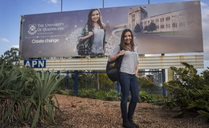 Louisa has been featured prominently as a UQ exemplar.